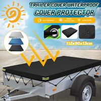 112x90x13cm Heavy Duty Trailer Cover Oxford Cloth Waterproof Dust Protector