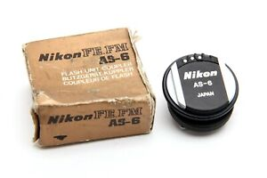 Near Mint Nikon FE/FM AS-6 Flash Unit Coupler with Box #33963