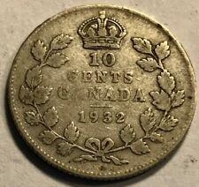 Fine 1932 Canada Silver 10 Cents
