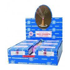 INCENSE CONES Satya Sai BABA Nag Champa Dhoop Cones BOX OF 12 FREE UK P&P