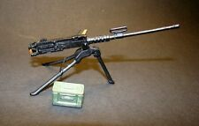 "1:18 BBI Elite Force WWII US Army M-50 Machine Gun Tripod w Ammo 3.75"" Figures E"