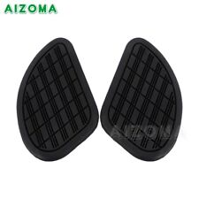 Black Motorcycle Rubber Tank Traction Pad Side Gas Knee Grip Protector Universal