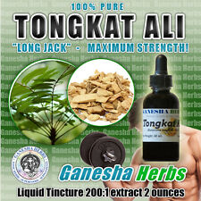 100% GENUINE Tongkat Ali Long jack 200:1 Liquid Glycerine Tincture 2oz. POTENT!!