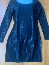 Saba Sequin Knit BLACK Dress (Size 8) BNWT -RRP $249