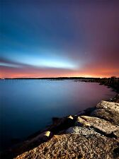TOSTEBERGA SHORELINE SEA SUNSET DRAMATIC SKY ART PRINT POSTER PICTURE BMP250A