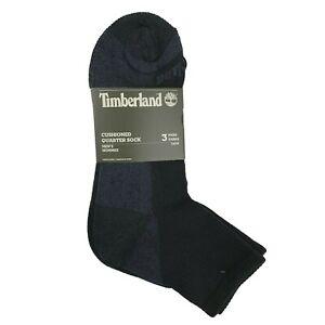 Timberland Quarter Socks 3 Pair OSFM Black Cushioned Quarter Socks