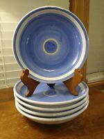 "Five Caleca CAA 17 Hand Painted Ceramic 8 1/2"" Salad Plates Sold Individually"