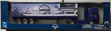 NewRay - MAN F2000 Container-Truck / LKW / Sattelzug blau 1:43 Neu/OVP