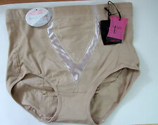 Ladies 10-12 Control Knickers Panties Briefs Tummy Tuck bum Lift Natural