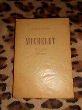 MICHELET- Textes choisis par René Bray - Egloff, 1943