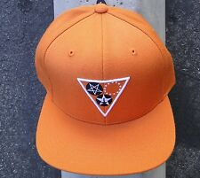 Black Scale Tringle Logo Mens Orange Skate Co. Snapback Hat One Size
