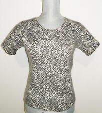 Valerie Stevens fluffy Furblend Lambwooled Angora Sweater,Animal print, Size S
