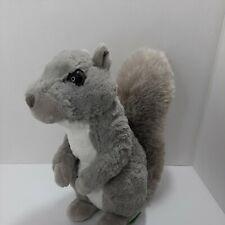 """wild republic gray squirrel plush 10 """" Realistic"""