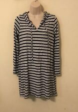 Womans Cover Up Hoodie Size Large Lg By Mott 50 Striped