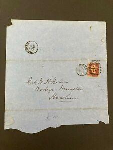 Postal History GB QV 1872 Hexham CDS Parish Return 1d Red Plate144 Cat £25
