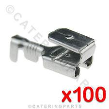 100 x HEAT RESISTANT HIGH TEMP PIGGYBACK CABLE / WIRE CONNECTORS 6.3mm FASTON