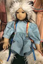 1993 Annette Himstedt Nordic Artist Doll Human Hair Vtg 27in