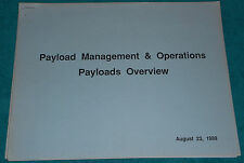 NASA Payload Management & Operations Payloads Overview 1989 Booklet 19 Pages