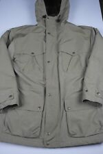 Vtg Woolrich Parka Jacket Mens Size L Wool Lined Made in USA Desert Tan Outdoors