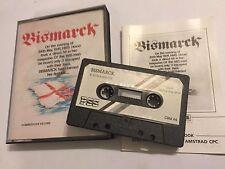 Acorazado Bismarck COMMODORE 64 C64 128 Cassette cinta juego Wargames Series por Pss