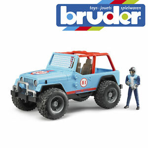 Bruder Jeep Cross Country Racer Jeep Blue With Driver Kids Childrens Toy Model