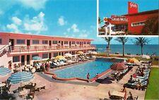 Postcard Florida Miami Beach The Safari Motel Ocean Front at 177th 50s-60s MINT