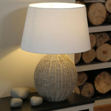Aimbry Raffles Rattan Cream Wash Table Lamp With Shade 501 Large Ball Lamp