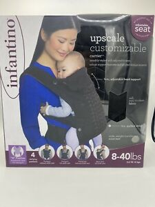 Infantino Upscale Customizable Baby Carrier 4 Positions Black 8-40 lbs
