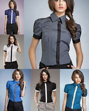 Chemisette femme chemise manches courtes ballon chic NIFE K33 36 38 40 42 44