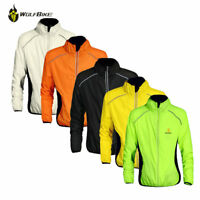 Hi Viz Windstopper Bike Bicyle Cycling Sport Reflective Jacket Wind Coat Jersey