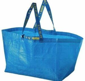 IKEA FRAKTA Large Blue Carrier Bags Laundry gardening & Shopping Bags