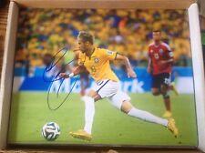 Neymar Autographed 11x14 Barcelona World Cup Brazil Gold Olympics Rio 2016 PROOF