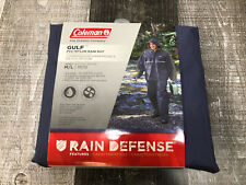 New Coleman Rain Defense Gulf PVC Nylon Rain Suit Blue Adult Medium/ Large
