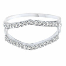 1/4 Ct Wrap Guard Solitaire Enhancer Diamonds 14k White Gold Wedding Band Ring