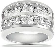 14k Gold Channel set Anniversary Band 1.91 carat 10 Round Diamond Wedding Ring