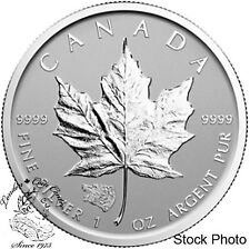 Canada 2016 $5 Silver Maple Leaf with Grizzly Privy Coin
