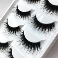 5 Pairs  Soft Long Handmade Eye Lash Extension Fake False Eyelashes Makeup Tool