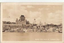 Postcard RPPC Quebec From River St Lawrence Canada