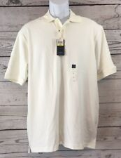 NWT Arrow Size M White Polo Golf Shirt Short Sleeve 100% Cotton 2-Button Collar