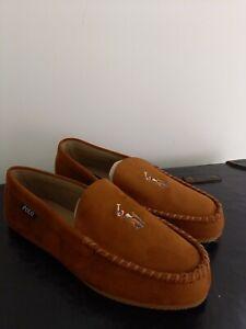 Mens Tan Ralph Lauren Slippers Size 10