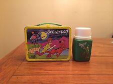 Vintage 1973 SCOOBY DOO Cartoon Hanna Barberra Yellow Metal Lunchbox Rare