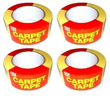 4 X 48x25m Heavy Duty Carpet Tape Double Sided Multi-purpose Strong Adhesive Tap