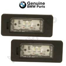 For BMW E82 F10 F15 F22 F30 F80 Pair Set Of 2 License Plate Lights LED Genuine