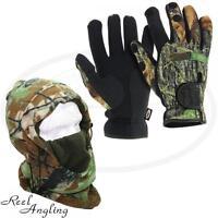 NGT Deluxe Snood & Camo Neoprene Gloves Medium Carp Sea  Fishing Hunting Camping