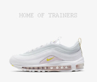 Nike Air Max 97 SE White Pale Pink Opti Yellow Girls Women's Trainers All Sizes