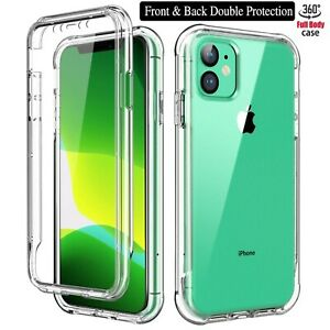 Clear Case iPhone 13 12 11 Pro 7 XR 8 Silicone Shockproof Slim 360 Phone Cover