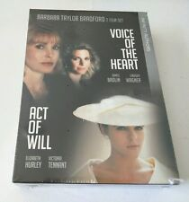"""Barbara Taylor Bradford's: Act of Will & Voice of the Heart DVD Set  """"NEW"""""""