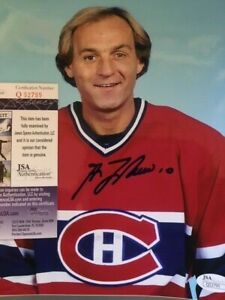 Guy Lafleur Montreal Canadiens 8x10 Photo AUTOGRAPHED w/ JSA Authentication