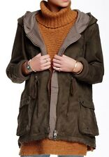 NWT Free People Twill Parka Outwear Coat Jacket Army Size XS