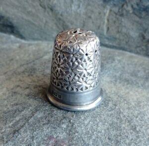 Antique James Fenton Sterling Silver Thimble Birmingham 1918 Size 12